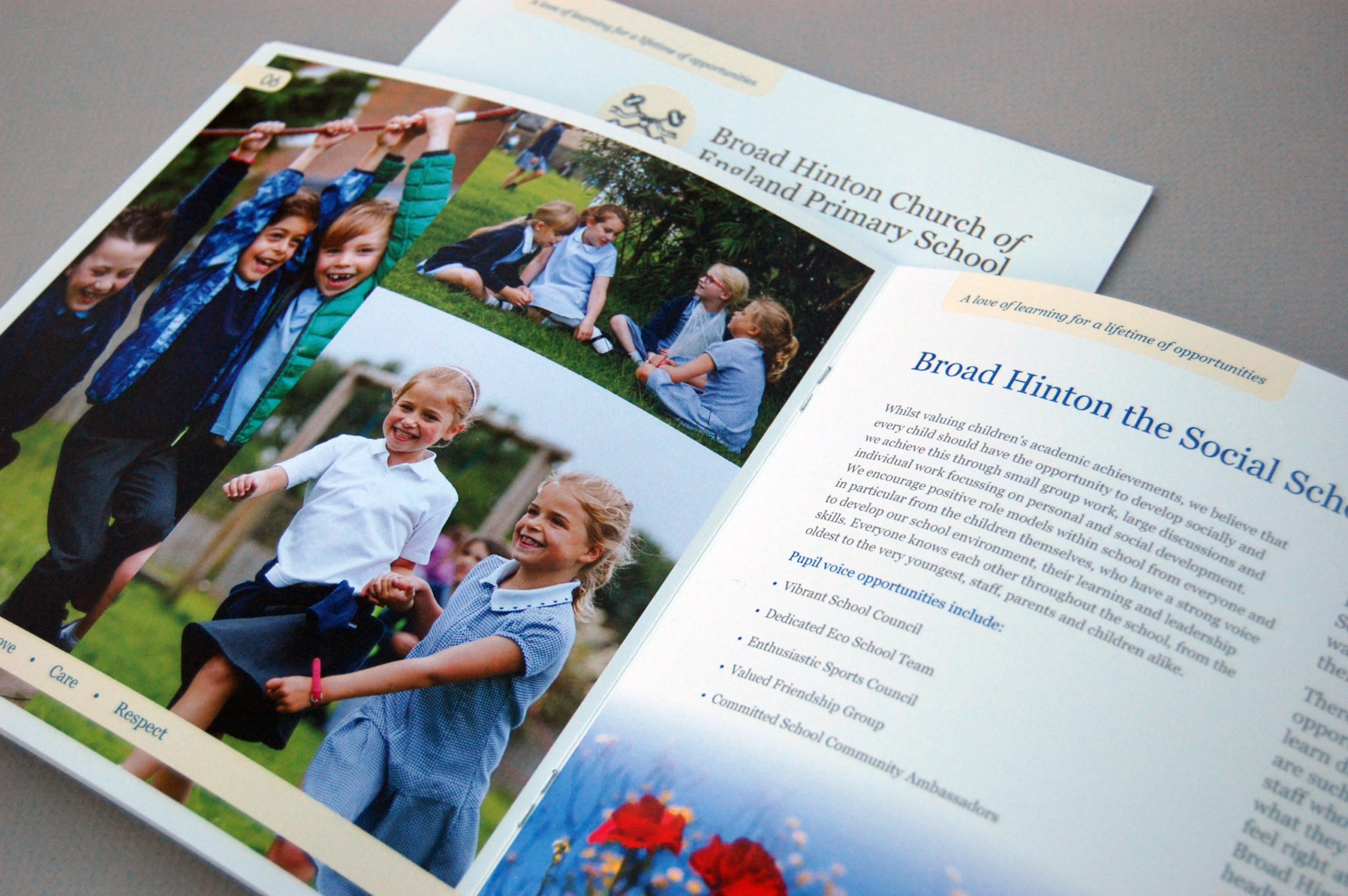 Broad Hinton School prospectus spread