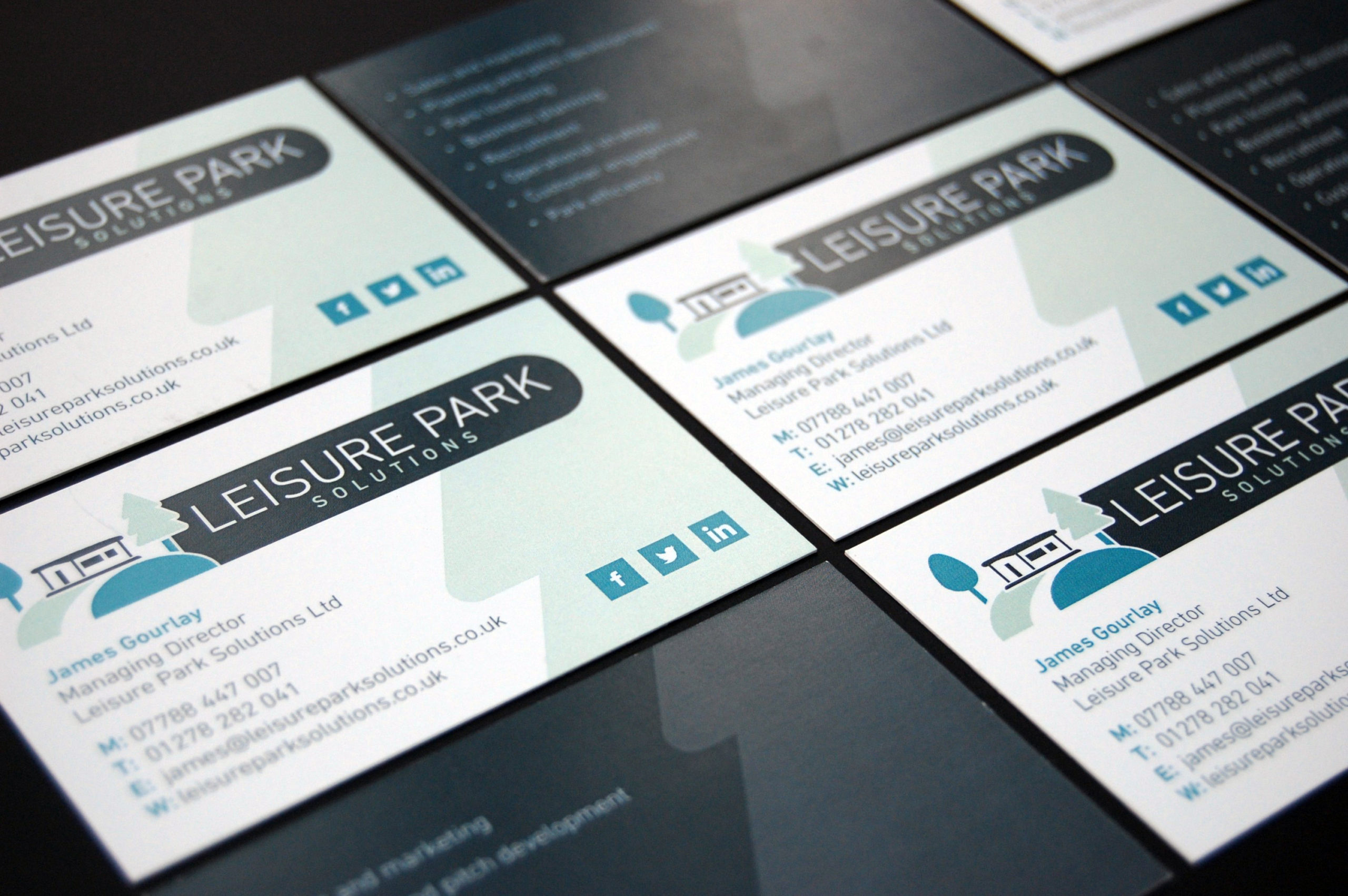 Leisure Park Solutions business cards