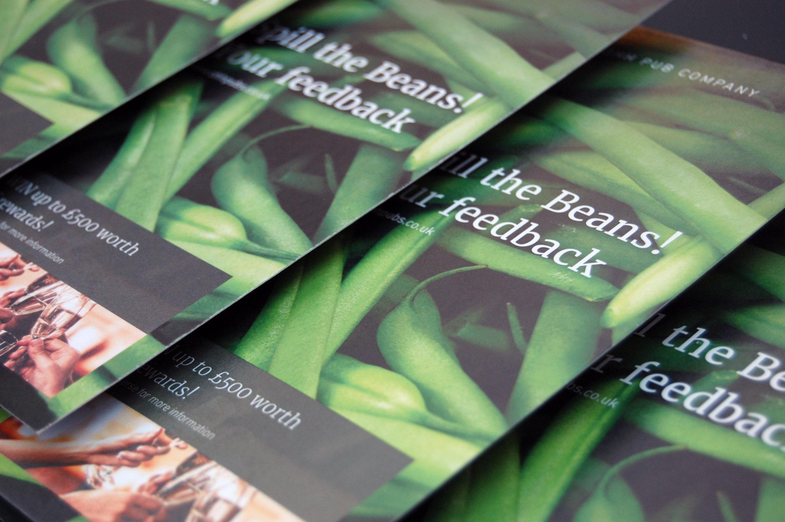 OHH Pub Co Feedback leaflet cover