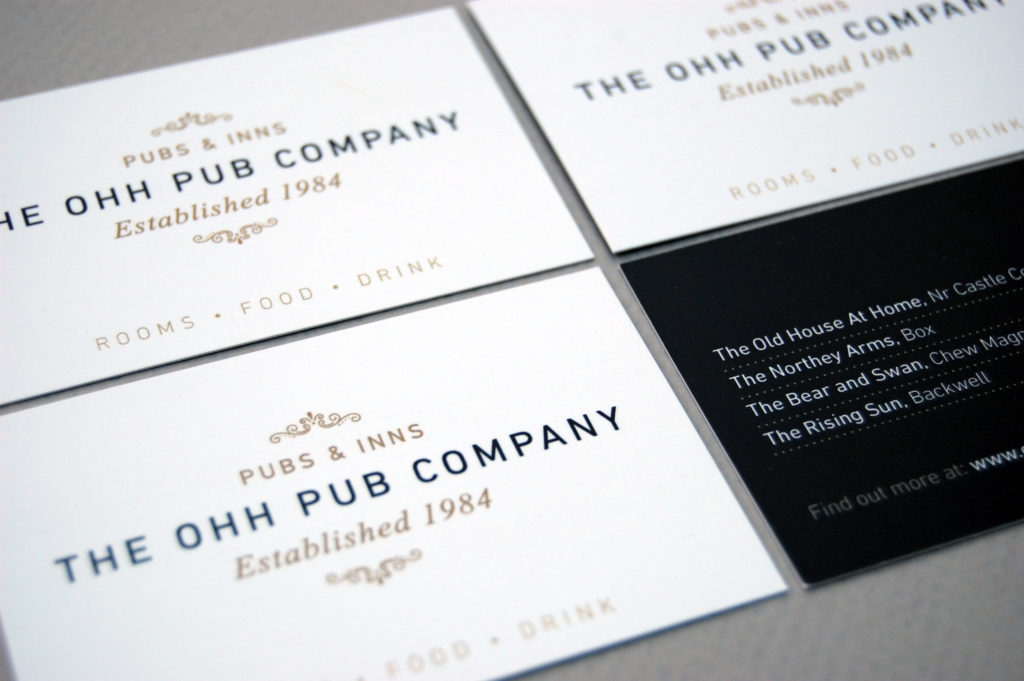 OHH Pub Co business card