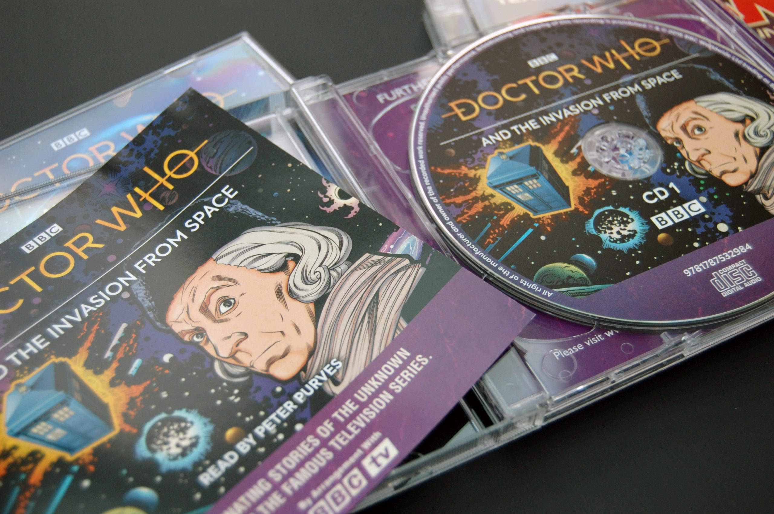 Doctor Who audio CD packaging